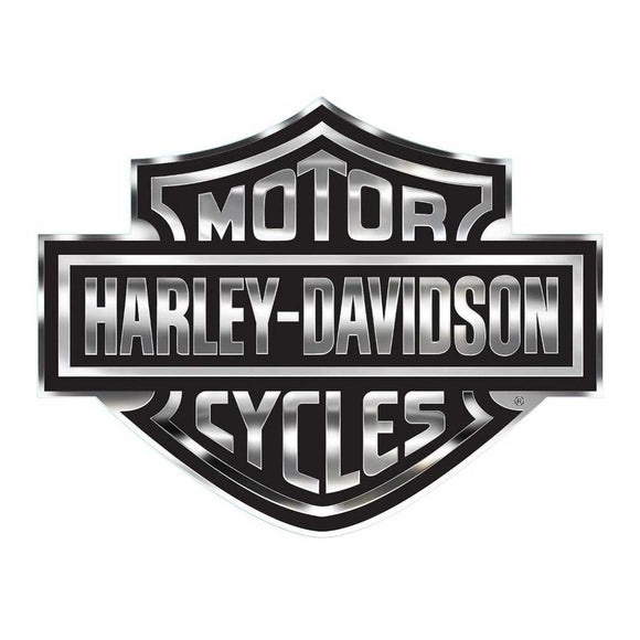 Harley-Davidson Bar & Shield Logo Decal, X-Large 30 x 40 In, Gray & Black CG4330 - Soromade Harley Davidson parts