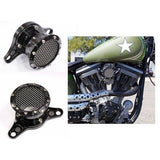 Black Anodized Nostalgia Velocity Stack Air Cleaner Fits For Harley Big Twin Cam 2001-2010 - Soromade Harley Davidson parts