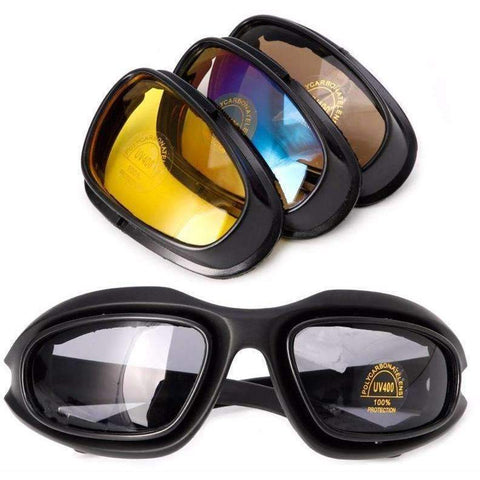 Polarized Motorcycle Lens Sun Glasses kit Windproof goggles - Soromade Harley Davidson parts