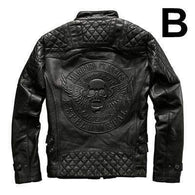harley motorcycle riding  leather bad a.s.s skull jacket - Soromade Harley Davidson parts