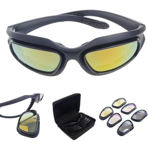 Polarized multi lens Goggles Sports Biker Windproof full set - Soromade Cycles