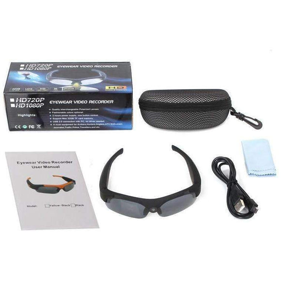 HD 1080P Sunglasses Camera Mini Camcorder Eyewear Video Recorder Wide angle - Soromade Harley Davidson parts