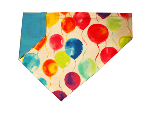 Balloons Blue Dog Bandana