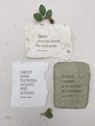quote cards for spring