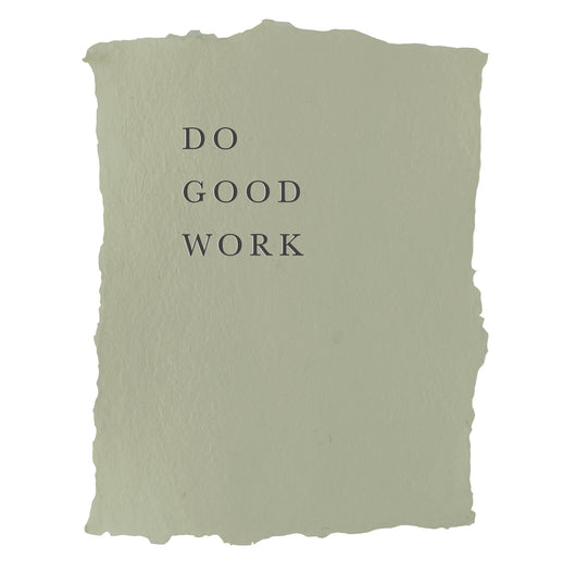 do good work art print