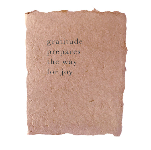 gratitude prepares the way for joy art print