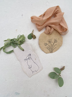 tiny cards and tags for spring