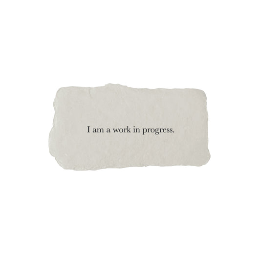 I am a work in progress affirmation card