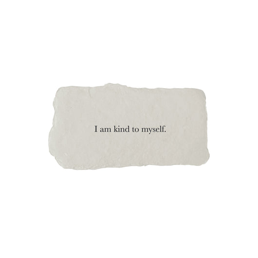 I am kind to myself affirmation card