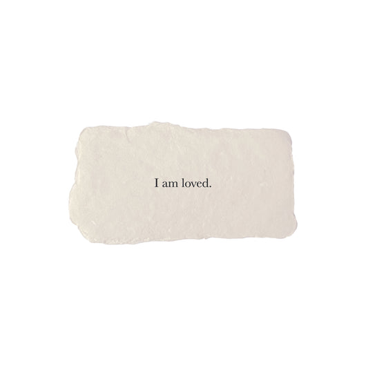 I am loved affirmation card