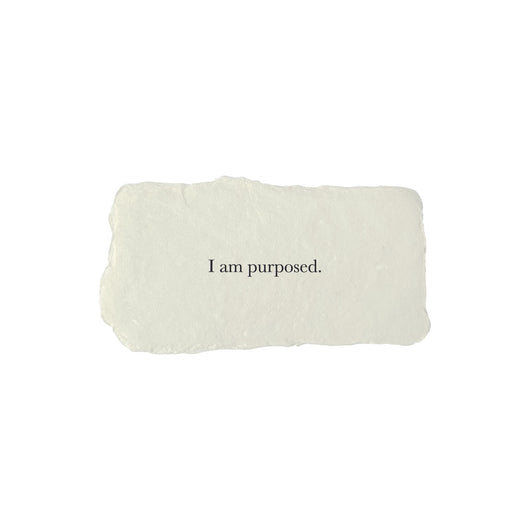 I am purposed affirmation card
