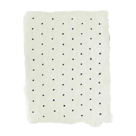 Swiss dot pattern note card