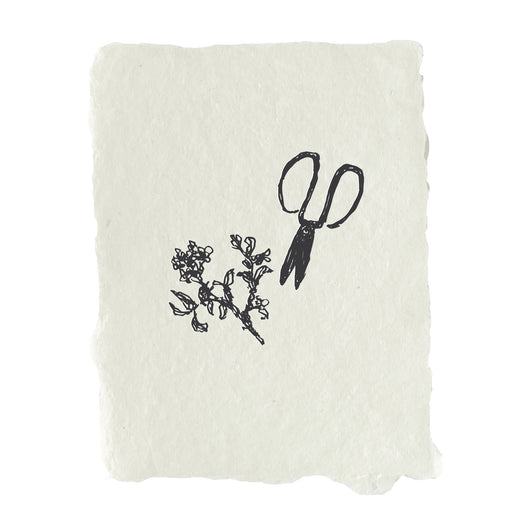 garden shears note card