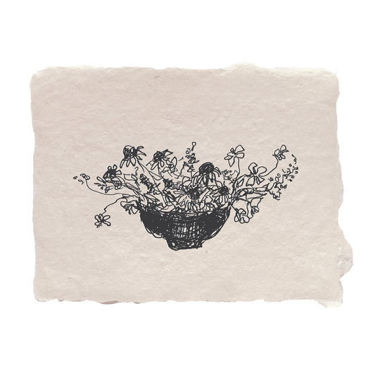 bowl of flowers note card