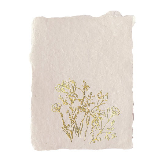 golden meadow note card