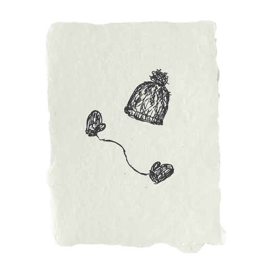 beanie and mittens note card