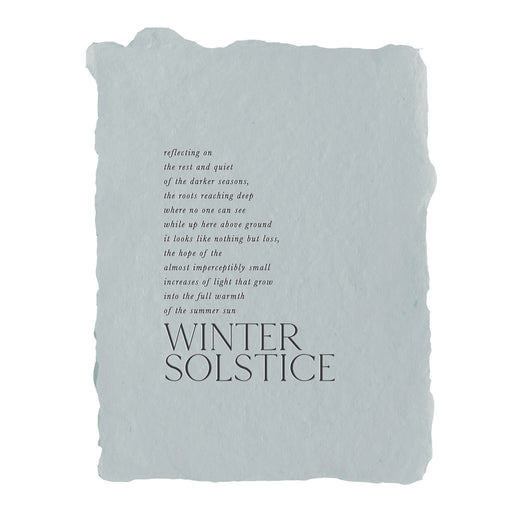 winter solstice note card