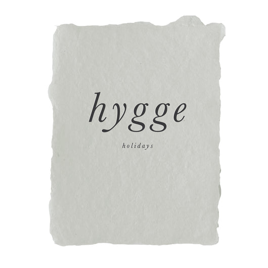 hygge holidays note card