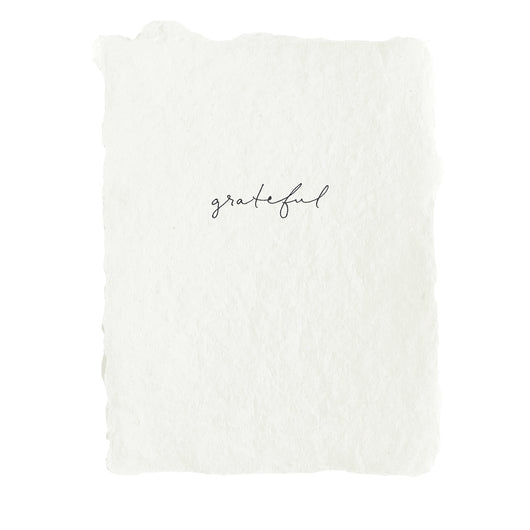 grateful note card