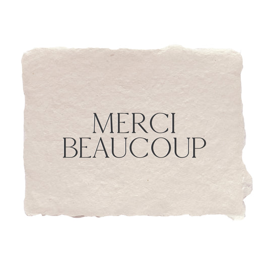 merci beaucoup note card