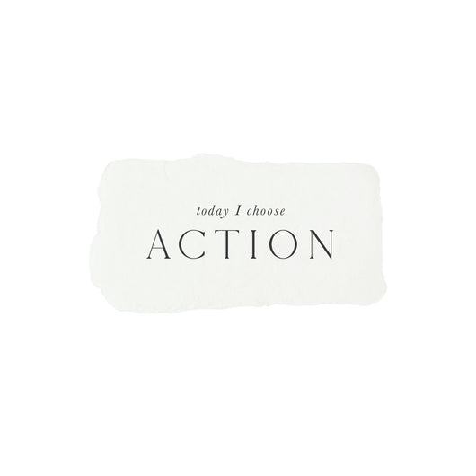 today I choose action intention card