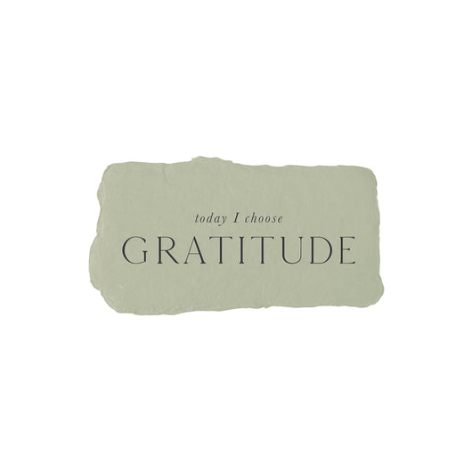 today I choose gratitude intention card