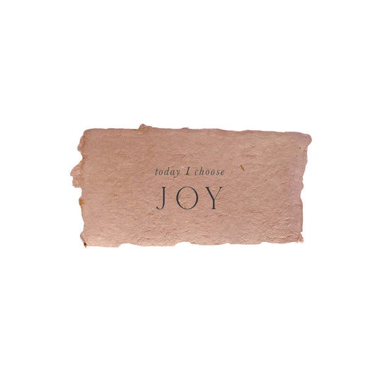today I choose joy intention card
