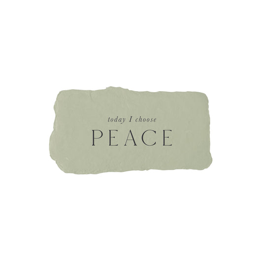today I choose peace intention card