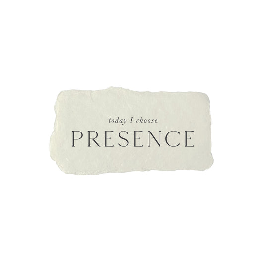 today I choose presence intention card