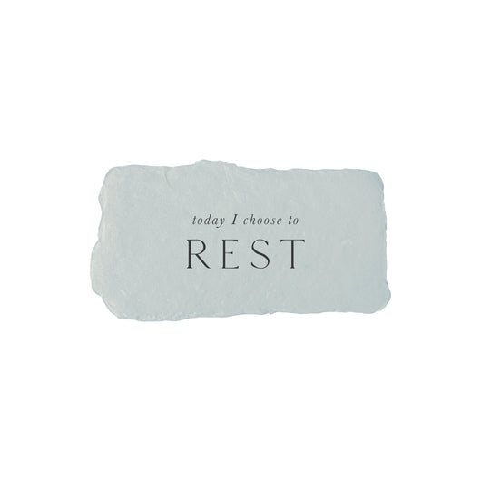 today I choose rest intention card