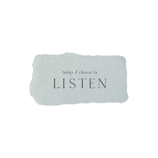 today I choose to listen intention card