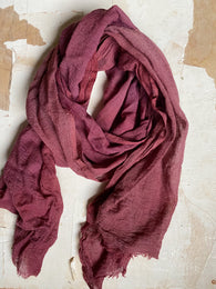 botanically-dyed merino wool scarves : purples