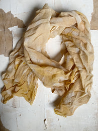botanically-dyed merino wool scarves : yellows