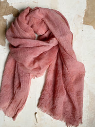 botanically-dyed merino wool scarves : pinks