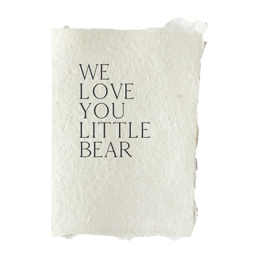 we love you little bear card