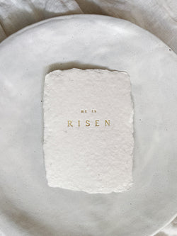 He is risen mini art print