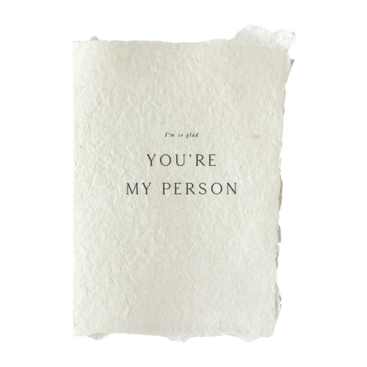you're my person card
