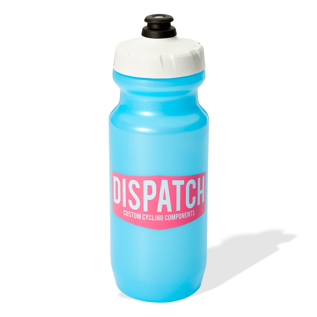 Dispatch Custom Cycling Components Water Bottle - Blue, Pink & White