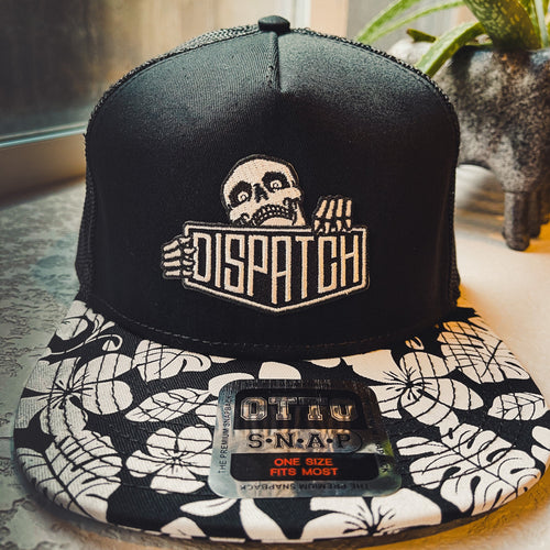 Dispatch Skalli Skeleton Mascot Logo Hat