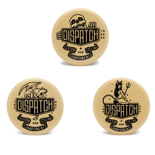 Dispatch Custom Cycling Components Logo Pins