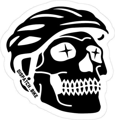 Skalli Rider - Skull Cycling Sticker