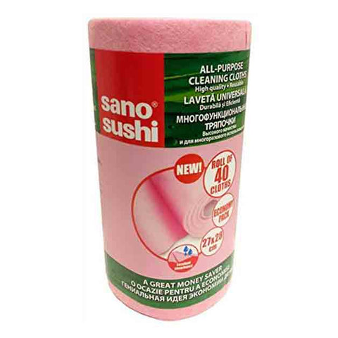 Sano - Sushi All Purpose Reusable Cleaning Cloths Roll - Pink