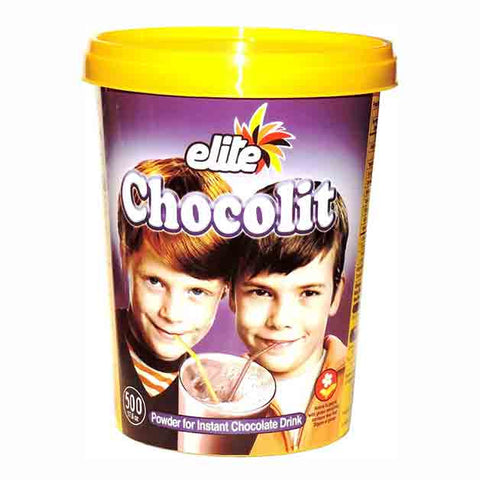 Elite - Chocolit - Instant Chocolate Milk Mix (500gr) 17.6 Ounces