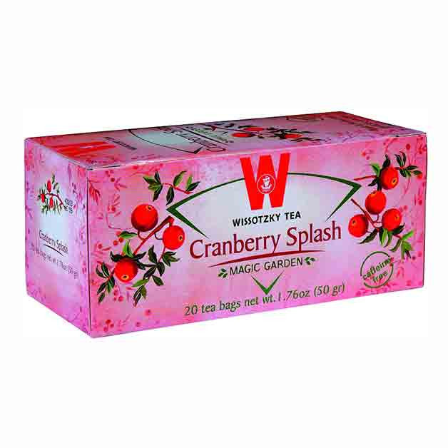 Wissotzky Tea Cranberry Splash Tea Box Of 20 Bags caffeine free
