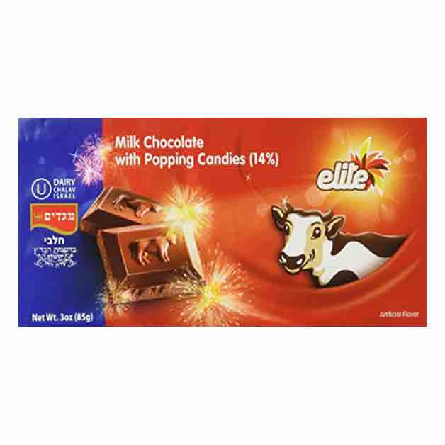 Elite, Milk Chocolate Bar with Pop Rocks 3oz