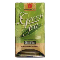 Wissotzky Tea Green Tea with Lemongrass and Ginger box of 20 tea bags