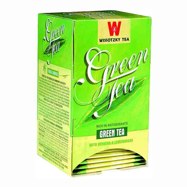 Wissotzky Tea Green Tea with Lemongrass and Verbena box of 20 tea bags