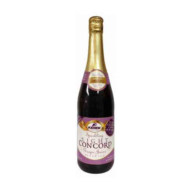 KEDEM - SPARKLING  LIGHT CONCORD GRAPE JUICE - 750 ML