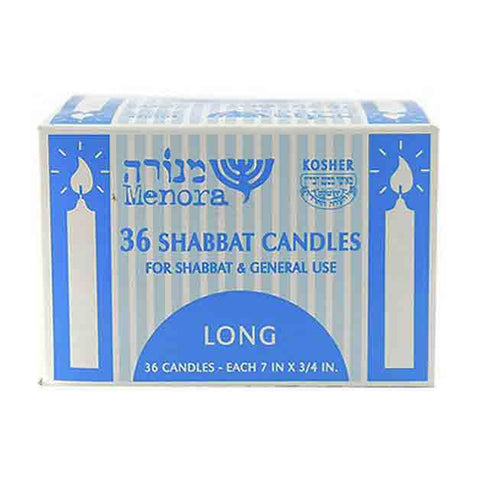 Menora - 36 Long Shabbat Candles