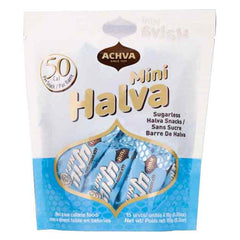 Achva Kosher Sugar Free Mini Halva Bars Snack Bag 15ct.